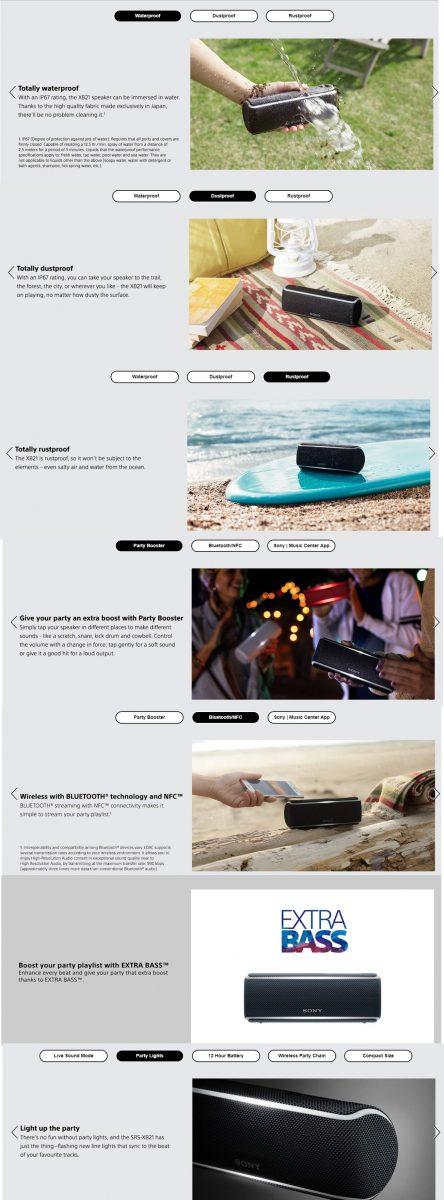 Enhanced brand content optimisation example Sony