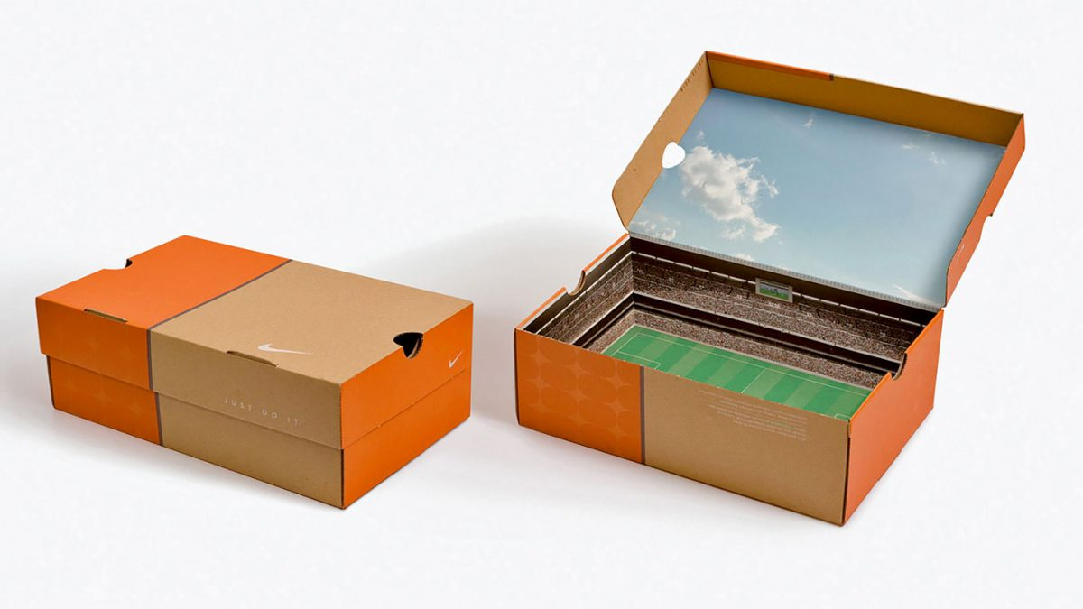 Nike Shoe Packaging Football Stadium Soccer Shoes - FedEx Branding - Brand Consistency - AmazonSEOConsultant.com - Branding Shoe Box