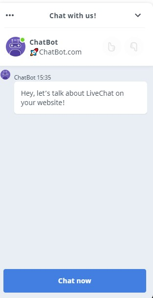 chatbot and livechat