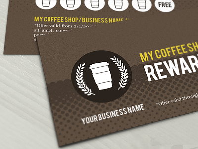 coffee shop points card