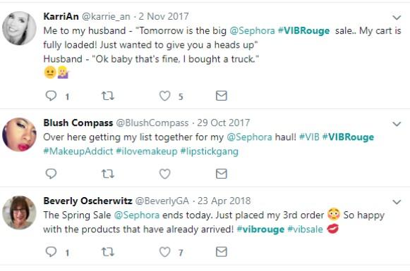 sephora vib examples