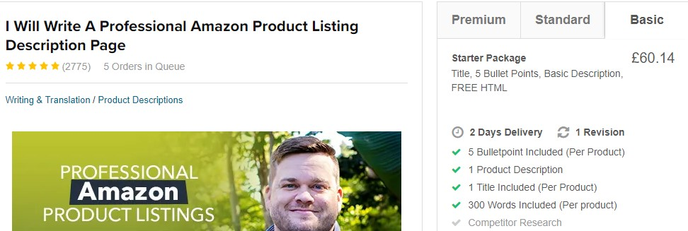 outsource amazon product listing creation