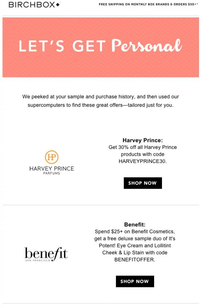 personalised discounts