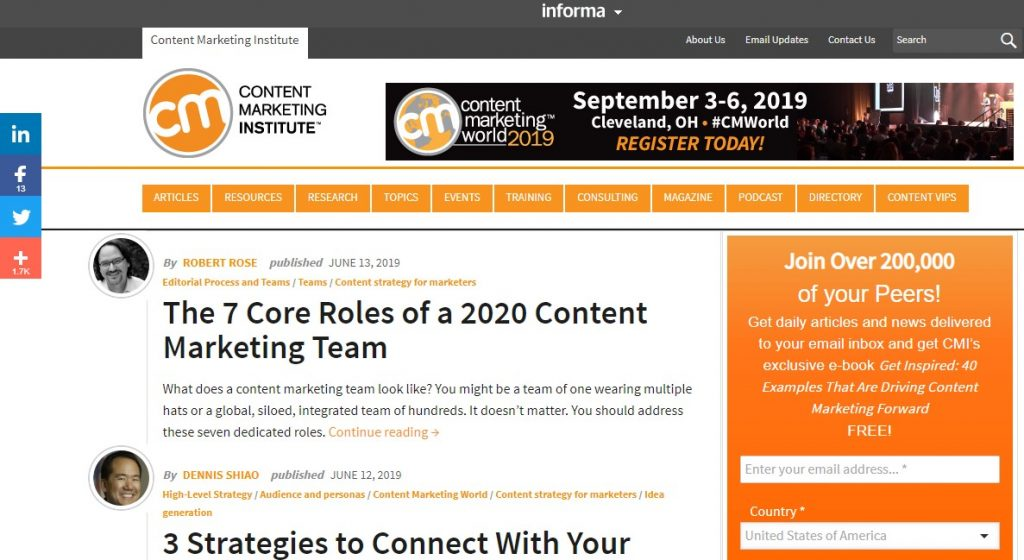 best content marketing blog