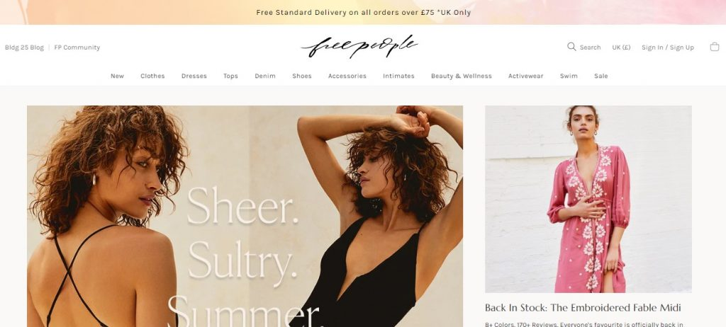 best ecommerce sites for fashion