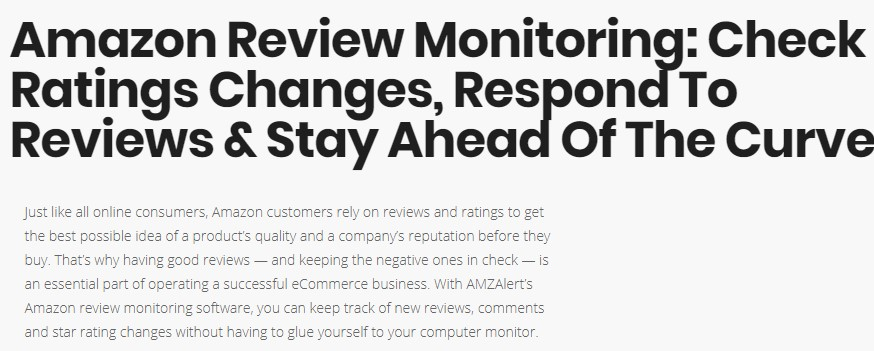 amazon review monitoring