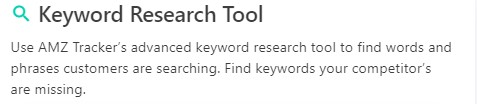amz tracker keyword research