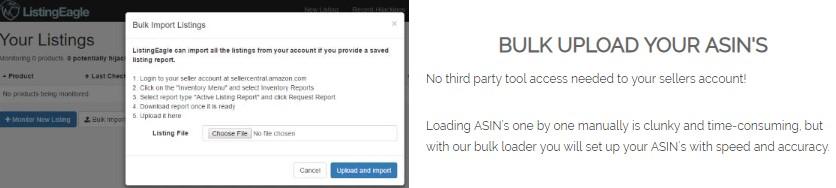 bulk upload asins