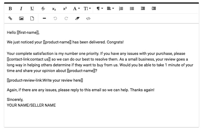 feedback genius email template