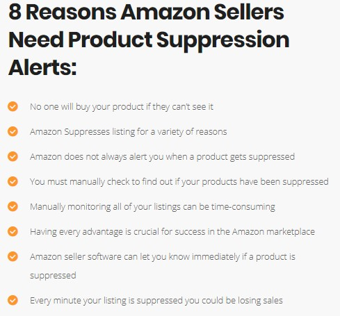 product suppression alerts