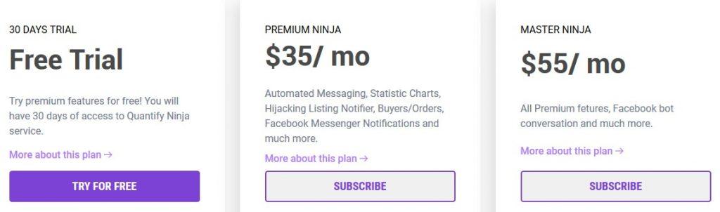 quantify ninja pricing
