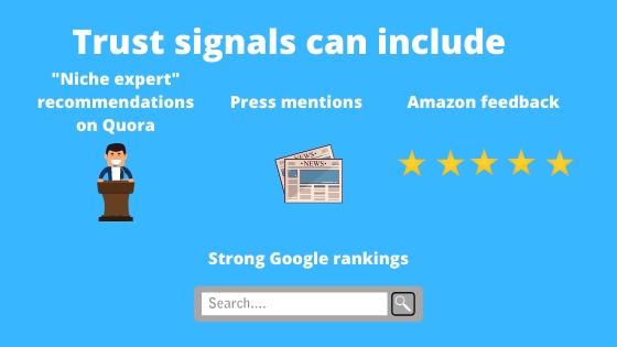 amazon trust signals
